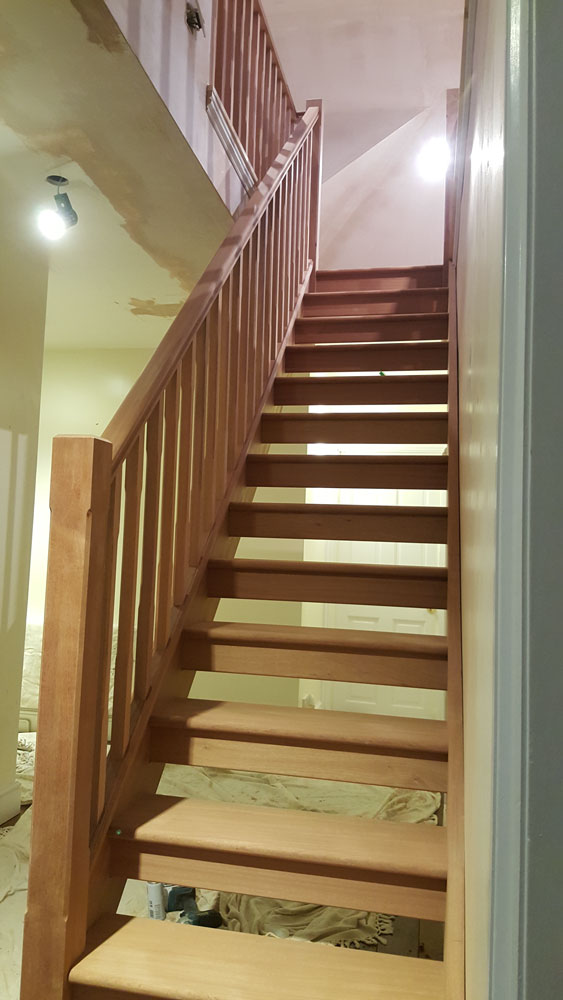 new timber staircase